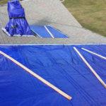 plastic tarp roof